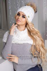 Комплект Аваланж шапка и шарф-хомут