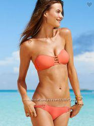 Новый яркий персиковый купальник Victorias Secret оригинал