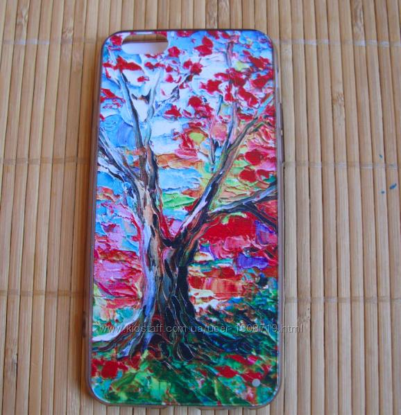 Чехол на iPhone 66s силиконовый с объемным рисунком