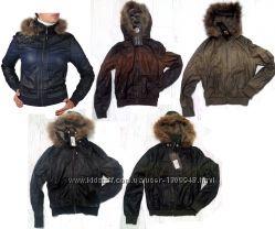 Куртка кожзам, демисезонная, JUNKER, распродажа