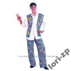 Карнавал Взрослый мужской костюм-Хиппи Cool Blue