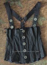 Шикарный черный корсет на бретельках, размер SXS