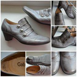 Кожаные стильные ботильйоны-туфли Gabor. Оригинал