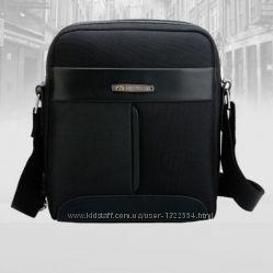 Стильная мужская маленькая тканевая сумка. Размер 25-20-8 см