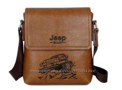 Стильная мужская сумка Jeep. Размер 20-18-4 см