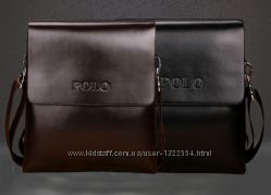Стильная мужская сумка Polo. Размер 19-22-4 см