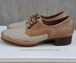 Кожаные туфли лоферы балетки Lady&acutes Joy 38, 5 р.