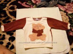 детский свитер велюровый унисекс 68-74р. бу