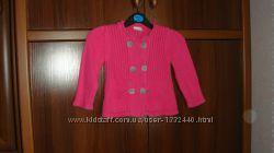 светр, кофта малинового кольору 98-100