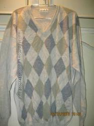 Джемпер мужской тонкая шерсть 50-52 размер