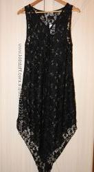 Сексуальное летнее гипюровое, кружевное платье-туника H&M.