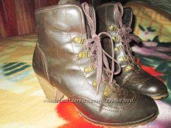 Осенние ботинки на небольшом каблучке в стиле гранж