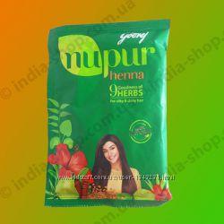 Хна для волос Нупур  9 лечебных трав