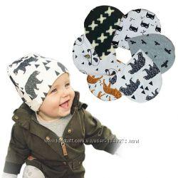 Шапка шапочка двухслойная трикотажная