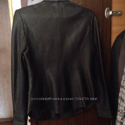 натуральная женская кожаная курточка - пиджак