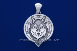 Подвес Волк, серебро