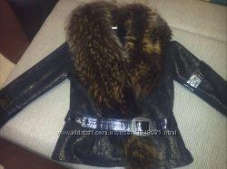 Роскошная куртка дубленка 44-46р. S курточка