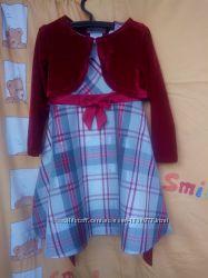 Комплект  болеро и платье на девочку размер 4Т известной марки Bonnie Je