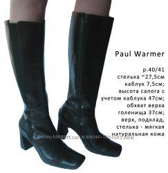 Сапоги  Paul Warmer р. 40 Италия