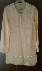 Новая блузка туника абрикосового цвета Splash 14 р-ра