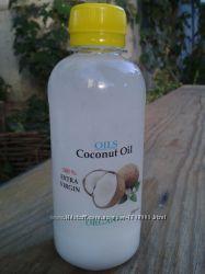 Кокосовое масло для волос и тела. Нерафинированное. Производитель.