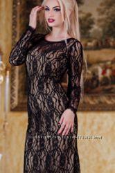 Гипюровое красивое платье