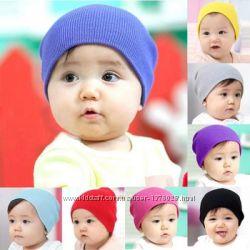 Шапочка, шапка вязаная зимняя для мальчиков и девочек.