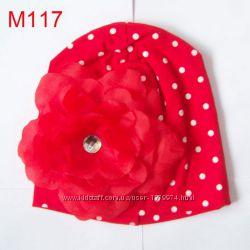 Новые шапки шапочки для девочки на девочку 6 12 18 мес 2-3 годика