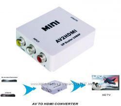 Конвертер AV  HDMI