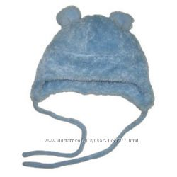 теплая шапочка для малышей с ушками Мишки 1-2 и 2-4 года