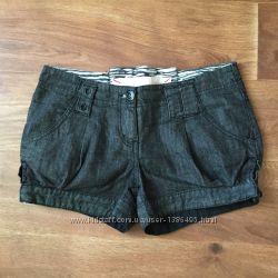Шорты мини джинсовые River Island черные разм. 10 36