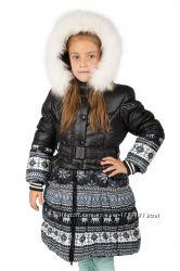 Теплое пальто на девочку Донило 2-11 лет для девочки модель 2939
