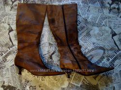 Женские кожанные осенние сапоги Dumond