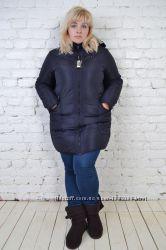 Женский зимний пуховик больших размеров
