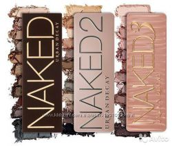Палетки теней на 12 оттенков Urban Decay Naked, Naked 2, Naked 3