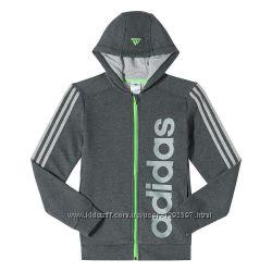 Спортивная кофта Adidas на замке утепленная - рост 130см