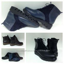 ботинки из натуральной кожи или замши, стильные