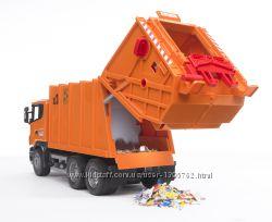 BRUDER БРУДЕР Мусоровоз SCANIA  R-R-series, оранжевый, 03560