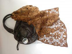 Ажурный вязаный шарфик