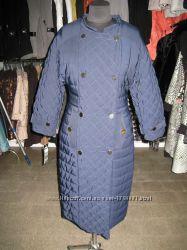 Куртка синяя три четверти рукав