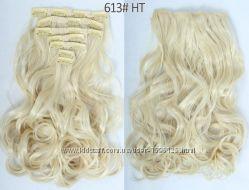 Трессы Шиньоны Накладные волосы набор натуральный оттенок