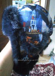 Зимняя меховая шапка на мальчика