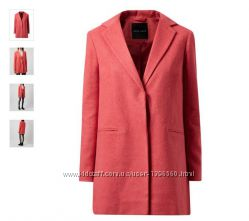 New look пальто кораллового цвета