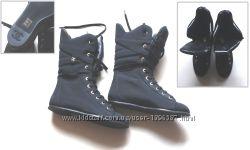 Новые женские сапожки CHANEL из Spandex на шнуровке