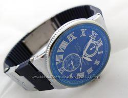 Стальные часы - Ulysse Nardin - Le Locle на синем каучуковом ремешке