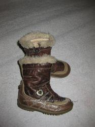 кожаные сапоги Chicco, 15 см стелька, демисезонные