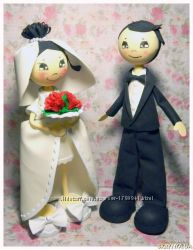 интерьерные куклы жених и невеста