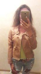 Кожаная куртка-жакет STRADIVARIUS