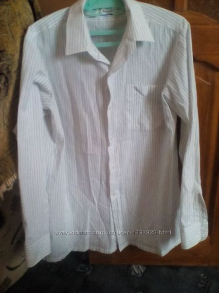Легенька натуральна сорочка на довгий рукав 41розм.  Рубашка