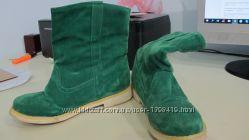 Ботинки изумрудного цвета